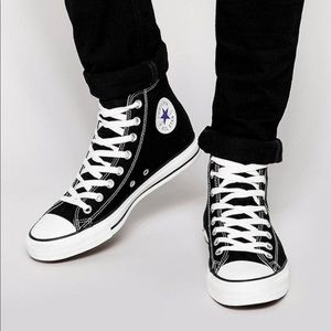 Converse Black High Top Sneakers, sz 10
